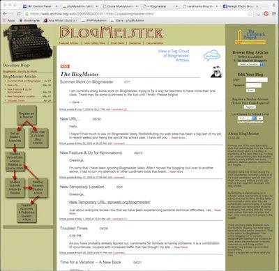Class Blogmeister - August 2005